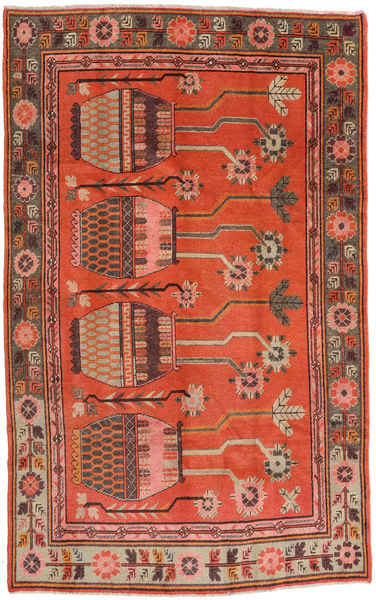 Samarkand Vintage Rug 173X280 Authentic  Oriental Handknotted Dark Brown/Crimson Red (Wool, China)