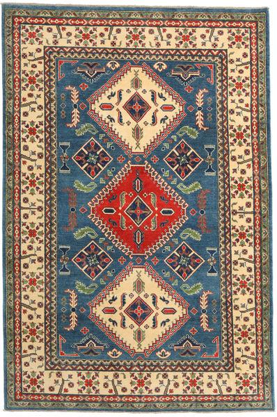 Kazak Rug 195X292 Authentic  Oriental Handknotted Dark Grey/Dark Blue (Wool, Pakistan)
