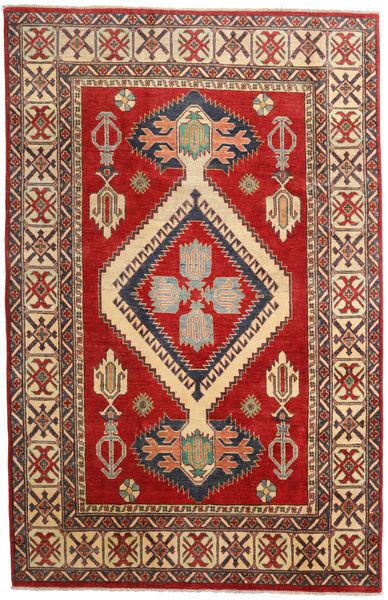 Kazak Rug 183X285 Authentic  Oriental Handknotted Dark Red/Rust Red (Wool, Pakistan)