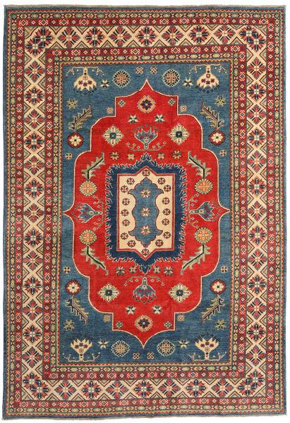 Kazak Matto 202X291 Itämainen Käsinsolmittu Vaaleanruskea/Ruoste (Villa, Pakistan)