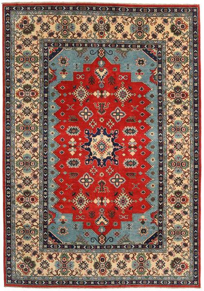 Kazak Rug 188X271 Authentic  Oriental Handknotted Dark Brown/Rust Red (Wool, Pakistan)