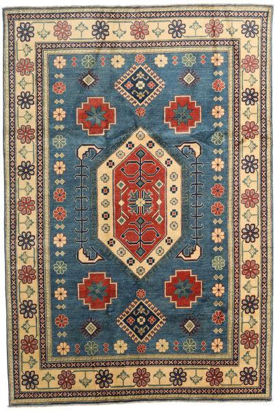 Kazak Matto 188X278 Itämainen Käsinsolmittu Tummanharmaa/Vaaleanruskea (Villa, Pakistan)