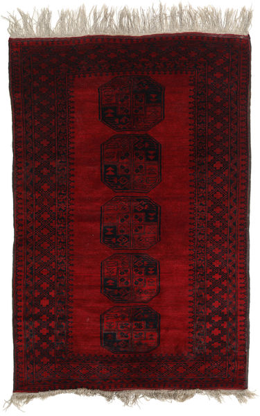 Afghan Khal Mohammadi Rug 124X195 Authentic  Oriental Handknotted Dark Brown/Dark Red (Wool, Afghanistan)