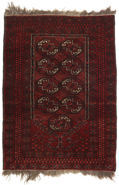 Afghan Khal Mohammadi Alfombra 77X105 Oriental Hecha A Mano Rojo Oscuro (Lana, Afganistán)