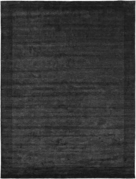 Handloom Frame - Negru/Gri Închis Covor 200X300 Modern Gri Închis/Verde Închis (Lână, India)