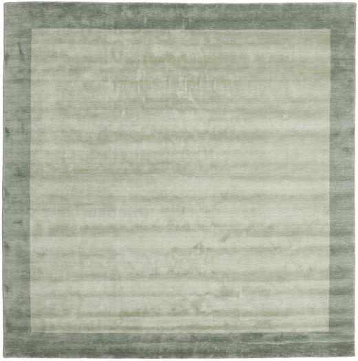Handloom Frame - Grau/Grün Teppich  300X300 Moderner Quadratisch Lindgrün/Hell Grün Großer (Wolle, Indien)