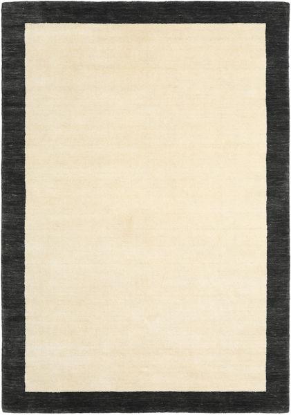 Handloom Frame - Musta/Valkoinen Matto 160X230 Moderni Beige/Musta/Keltainen (Villa, Intia)