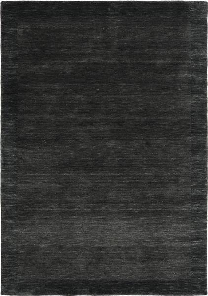 Handloom Frame - Czarny/Ciemnoszary Dywan 160X230 Nowoczesny Czarny/Ciemnozielony (Wełna, Indie)