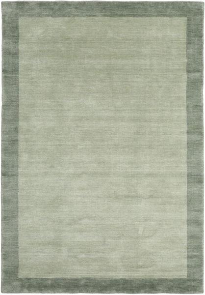 Handloom Frame - Szürke/Zöld Szőnyeg 160X230 Modern Világoszöld/Pasztellzöld (Gyapjú, India)