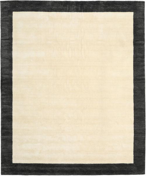 Handloom Frame - Zwart/Wit Vloerkleed 250X300 Modern Beige/Donkergrijs Groot (Wol, India)