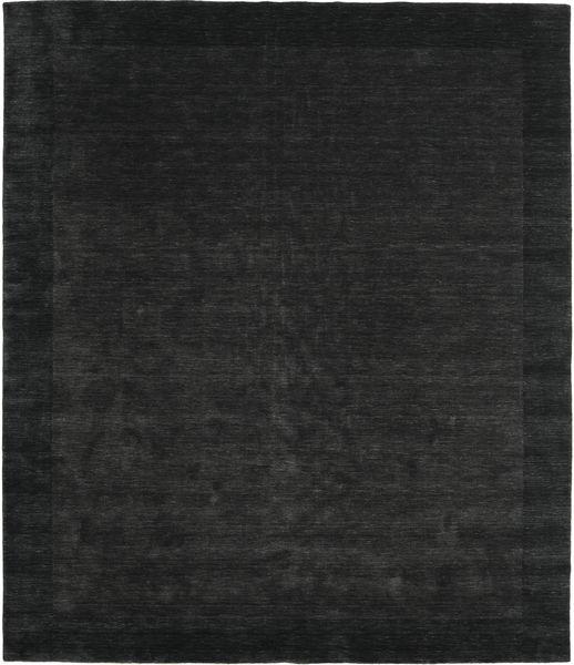 Handloom Frame - Musta/Tummanharmaa Matto 250X300 Moderni Musta Isot (Villa, Intia)