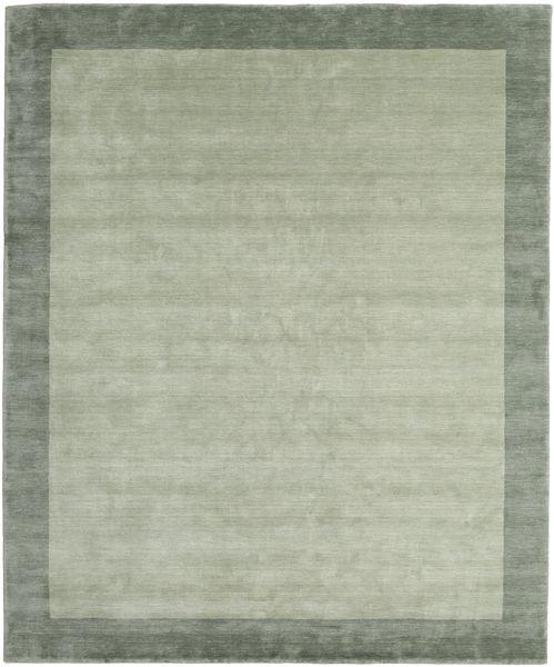 Handloom Frame - Harmaa/Vihreä Matto 250X300 Moderni Vaaleanvihreä/Pastellinvihreä Isot (Villa, Intia)