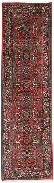 Bidjar Matto 84X286 Itämainen Käsinsolmittu Käytävämatto Tummanpunainen/Tummanruskea (Villa, Persia/Iran)