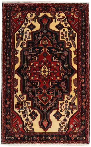 Hamadan Rug 154X247 Authentic  Oriental Handknotted Dark Red/Light Brown (Wool, Persia/Iran)