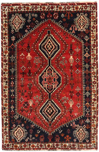 Ghashghai Matto 155X237 Itämainen Käsinsolmittu Musta/Ruoste (Villa, Persia/Iran)