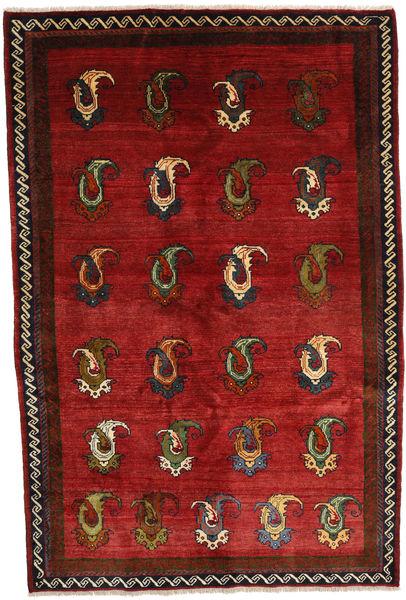 Kaszkaj Dywan 164X245 Orientalny Tkany Ręcznie Ciemnoczerwony/Rdzawy/Czerwony (Wełna, Persja/Iran)