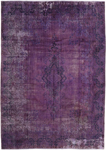 Vintage Heritage Rug 283X402 Authentic  Modern Handknotted Dark Purple/Pink Large (Wool, Persia/Iran)