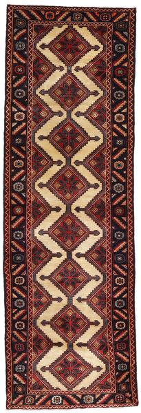 Hamadan Dywan 93X292 Orientalny Tkany Ręcznie Chodnik Ciemnoczerwony/Beżowy (Wełna, Persja/Iran)