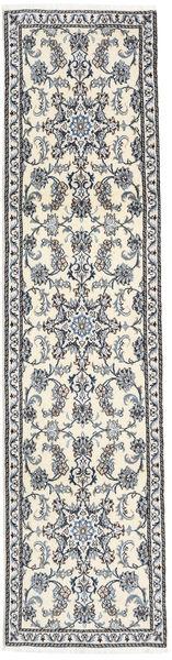 Nain Alfombra 73X291 Oriental Hecha A Mano Beige/Gris Oscuro (Lana, Persia/Irán)