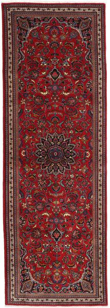 マシュハド 絨毯 97X285 オリエンタル 手織り 廊下 カーペット 深紅色の/黒 (ウール, ペルシャ/イラン)
