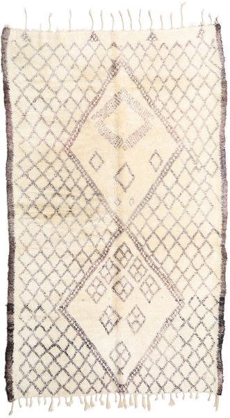 Berber Moroccan - Beni Ourain 絨毯 187X310 モダン 手織り ベージュ/薄い灰色 (ウール, モロッコ)
