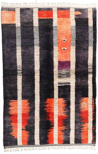 Berber Moroccan - Beni Ourain 絨毯 172X260 モダン 手織り 濃い紫/ピンク (ウール, モロッコ)