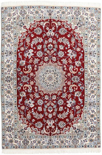 Nain 9La Matto 140X205 Itämainen Käsinsolmittu Tummanpunainen/Vaaleanvioletti (Villa/Silkki, Persia/Iran)