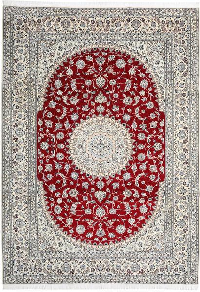 Nain 9La Tappeto 246X345 Orientale Fatto A Mano Grigio Chiaro/Rosso Scuro (Lana/Seta, Persia/Iran)
