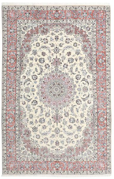 Nain 9La Tappeto 193X298 Orientale Fatto A Mano Grigio Chiaro/Beige (Lana/Seta, Persia/Iran)