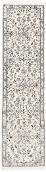 Nain 9La Dywan 77X300 Orientalny Tkany Ręcznie Chodnik Jasnoszary/Biały/Creme/Beżowy (Wełna/Jedwab, Persja/Iran)
