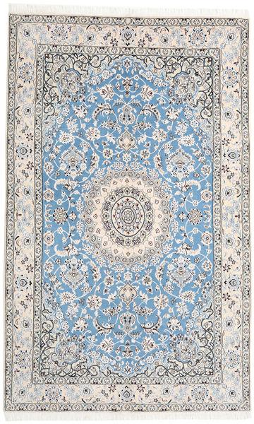 Nain 9La Covor 153X250 Orientale Lucrat Manual Gri Deschis/Bej-Crem/Albastru Deschis (Lână/Mătase, Persia/Iran)