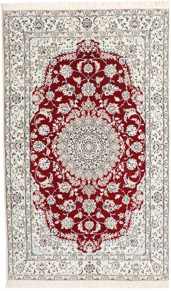 Nain 9La Matto 150X243 Itämainen Käsinsolmittu Beige/Vaaleanharmaa (Villa/Silkki, Persia/Iran)