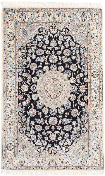Nain 9La Rug 130X207 Authentic  Oriental Handknotted Beige/Light Grey/White/Creme (Wool/Silk, Persia/Iran)