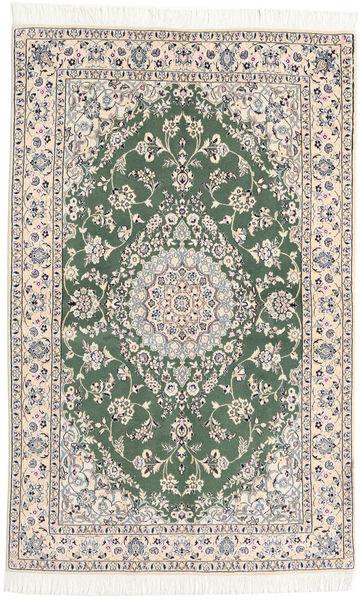 Nain 9La Alfombra 128X208 Oriental Hecha A Mano Gris Claro/Beige (Lana/Seda, Persia/Irán)