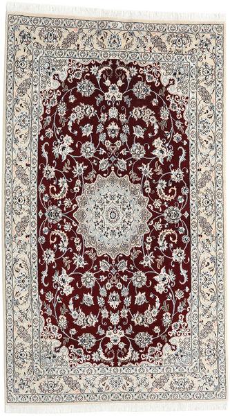 Nain 9La Tappeto 130X225 Orientale Fatto A Mano Marrone Scuro/Grigio Chiaro/Beige (Lana/Seta, Persia/Iran)