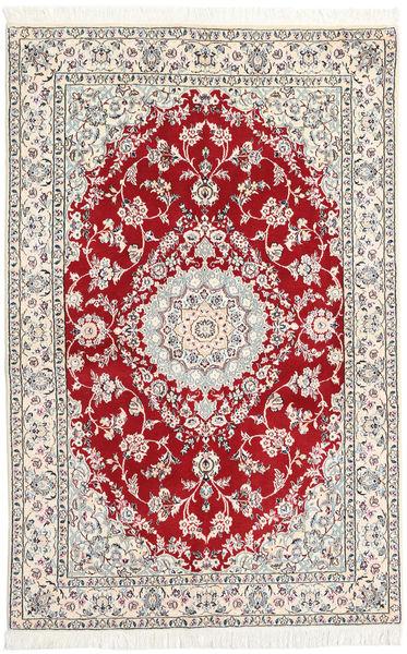 ナイン 9La 絨毯 130X197 オリエンタル 手織り ベージュ/薄い灰色 (ウール/絹, ペルシャ/イラン)