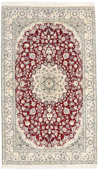 Nain 9La Alfombra 125X210 Oriental Hecha A Mano Beige/Marrón Claro (Lana/Seda, Persia/Irán)