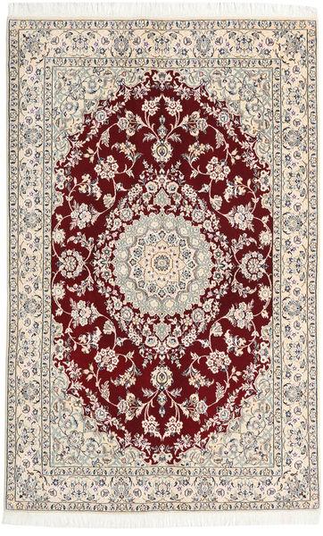 Nain 9La Matta 130X206 Äkta Orientalisk Handknuten Beige/Ljusgrå (Ull/Silke, Persien/Iran)