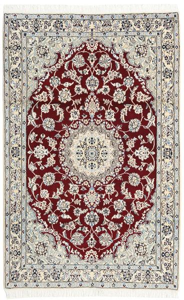 Nain 9La Alfombra 114X178 Oriental Hecha A Mano Beige/Gris Claro (Lana/Seda, Persia/Irán)