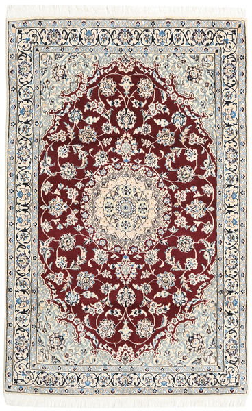 Nain 9La Rug 113X179 Authentic  Oriental Handknotted Beige/Light Grey (Wool/Silk, Persia/Iran)