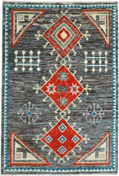 Barchi/Moroccan Berber - Afganistan Matto 202X297 Moderni Käsinsolmittu Tummanharmaa/Sininen (Villa, Afganistan)