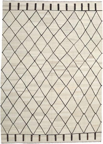 Kelim Ariana Teppich  250X348 Echter Moderner Handgewebter Dunkel Beige/Beige Großer (Wolle, Afghanistan)