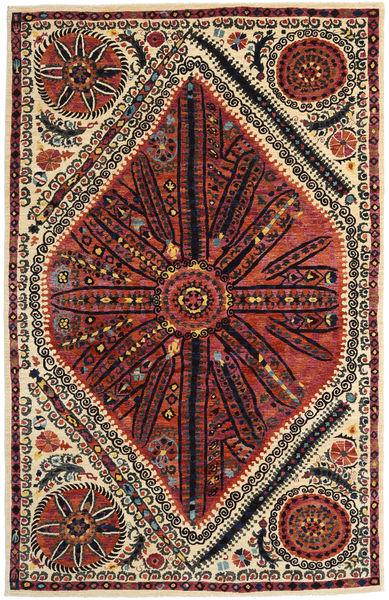 Afghan Exclusive Rug 182X285 Authentic  Modern Handwoven Black/Brown (Wool, Afghanistan)