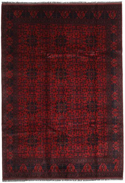 Afghan Khal Mohammadi Matto 205X293 Itämainen Käsinsolmittu Tummanpunainen (Villa, Afganistan)