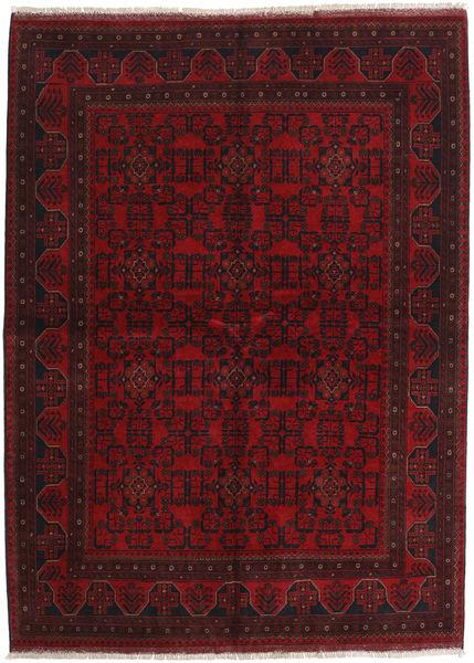 Afghan Khal Mohammadi Tæppe 175X238 Ægte Orientalsk Håndknyttet Mørkerød (Uld, Afghanistan)