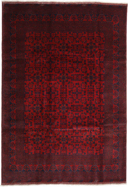 Afghan Khal Mohammadi Rug 203X294 Authentic  Oriental Handknotted Dark Red/Crimson Red (Wool, Afghanistan)