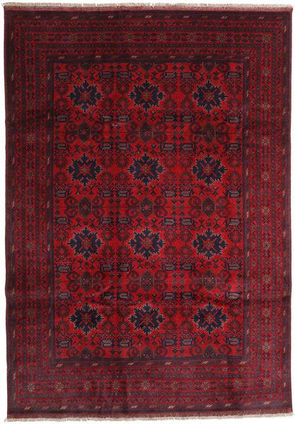 Afghan Khal Mohammadi Matto 203X291 Itämainen Käsinsolmittu Tummanpunainen/Punainen (Villa, Afganistan)