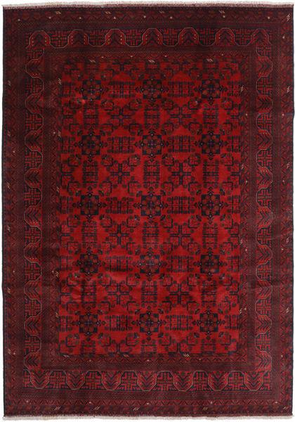 Afghan Khal Mohammadi Matto 207X290 Itämainen Käsinsolmittu Tummanpunainen/Tummanruskea (Villa, Afganistan)