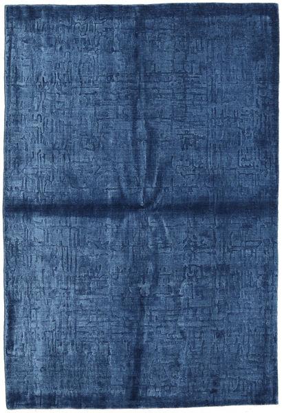 Viskoosi Moderni Matto 163X239 Moderni Käsinsolmittu Tummansininen/Sininen ( Intia)