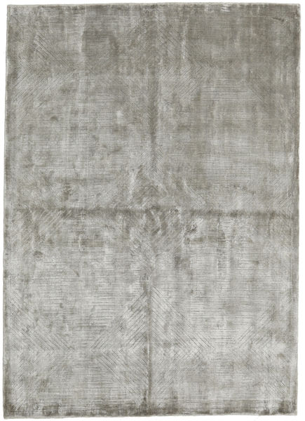 Viscose Modern Rug 175X244 Authentic  Modern Handknotted Light Grey ( India)